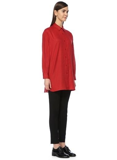 Gravitas %100 Keten Uzun Gömlek Kırmızı